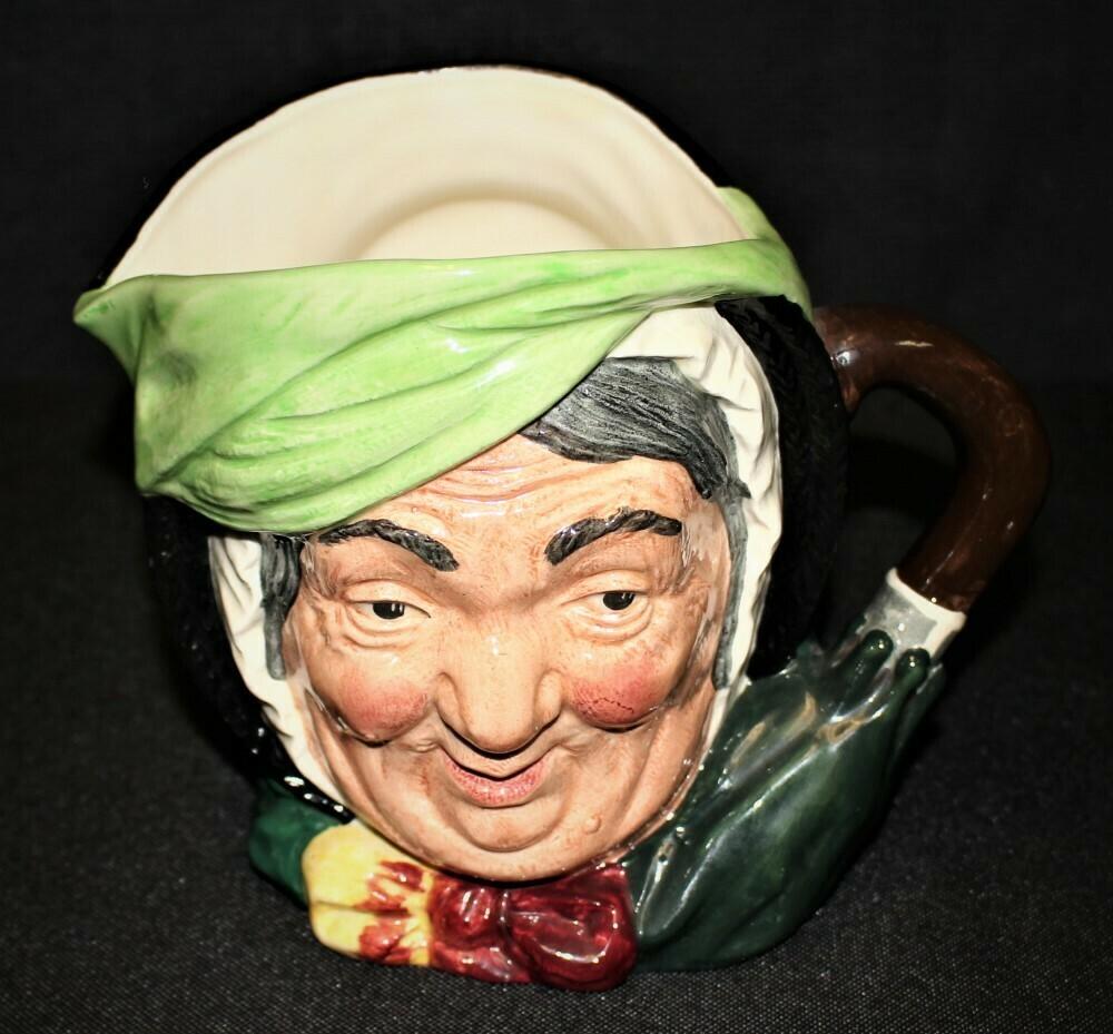 Royal Doulton Large Sariey Gamp Character Toby Pitcher Jug Mug, England D5528