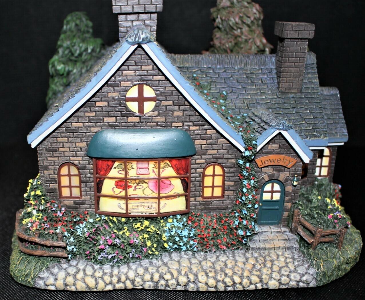 "Thomas Kinkade 2004 ""Jeweler"" Hawthorne Village Lamplight #A0326"