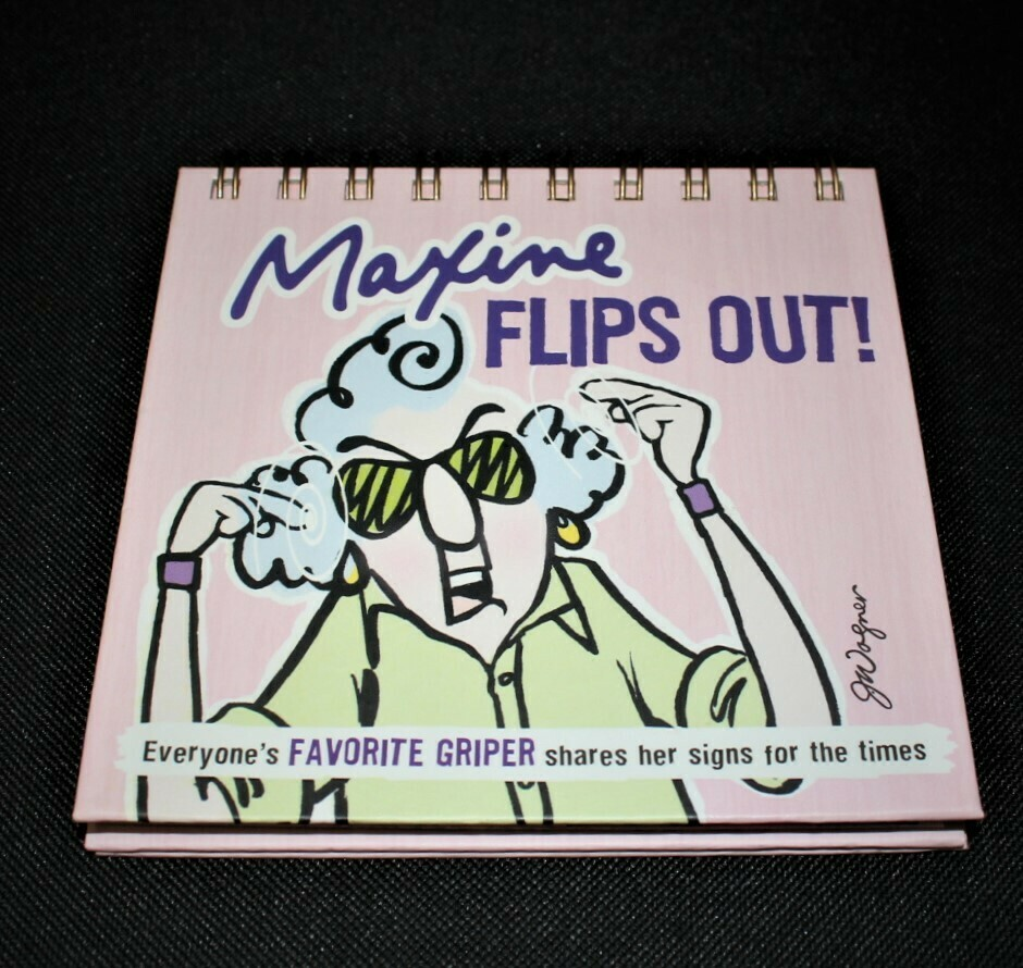Hallmark Maxine Flips Out! Spiral Desktop Gift Book (Hardcover)