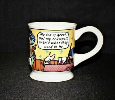 Hallmark Maxine My Tea is Great but My Crumpets... 3-D Footed Coffee Mug