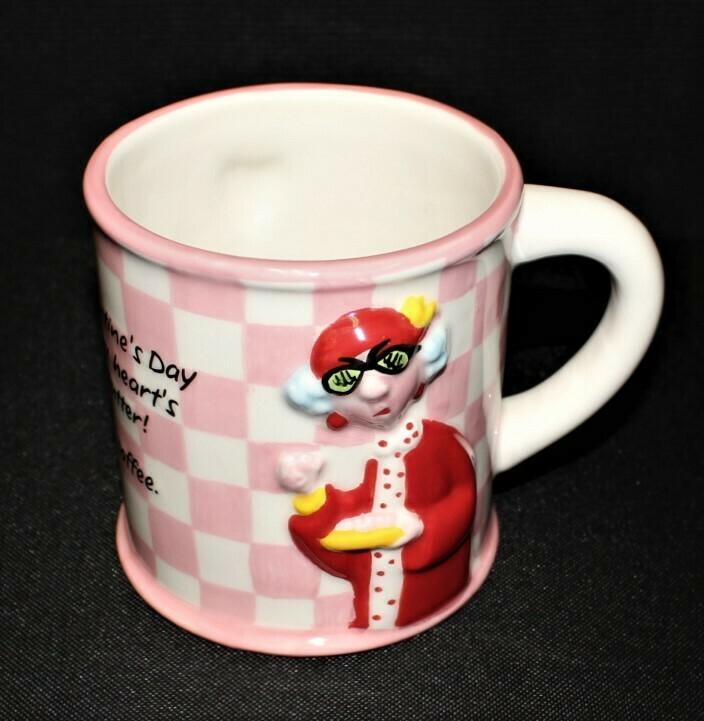 Hallmark Large Maxine & Floyd Valentine's Day 3-D Stupid Coffee Cup Mug