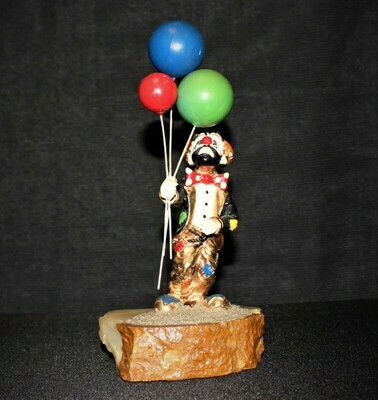 "Ron Lee ""Hobo Joe w/ Balloons"" Clown Sculpture Figurine, Signed"