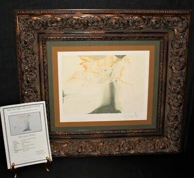 Salvador Dali 1983 Les Chevaux Daliniens Pegase Framed 33 x 30 Lithograph Signed