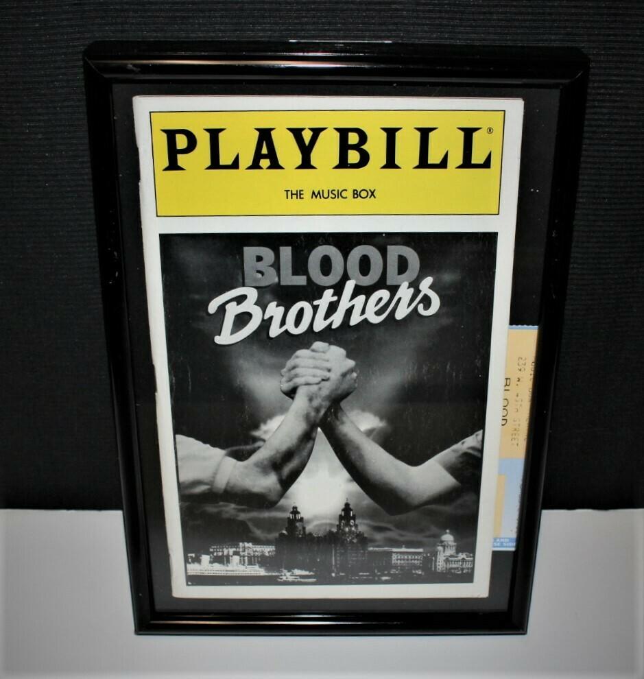 PLAYBILL 1983  Blood Brothers Framed Music Box Broadway Theatre Program & Ticket