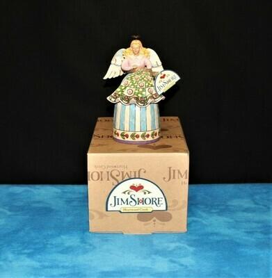 Jim Shore 2006 Stitch & Sew Til Aglow Quilting Angel Figurine, Signed #4009743