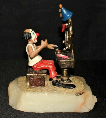 Ron Lee 1984 JoJo Clown Sitting in Front of Mirror Sculpture Figurine #250