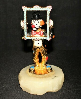 Ron Lee 1992 Framed Again Limited Edition 20/500 Clown Sculpture Figurine Signed