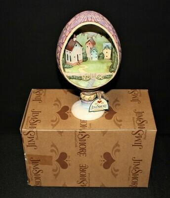 Jim Shore Small Town Big Blessings Easter Egg Church Diorama Figurine #4007545