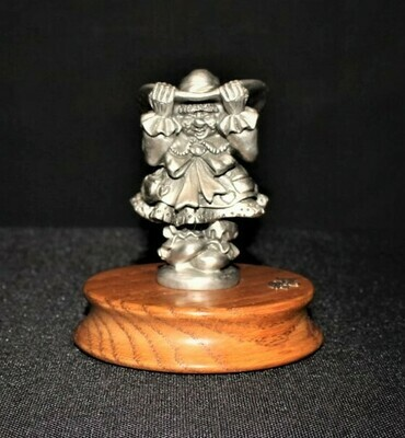 Ron Lee Fine Pewter Lady Hobo Clown Limited Edition Figurine on Wood Base