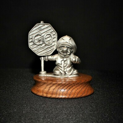 Ron Lee Fine Pewter Police Hobo Clown Limited Edition Figurine on Wood Base