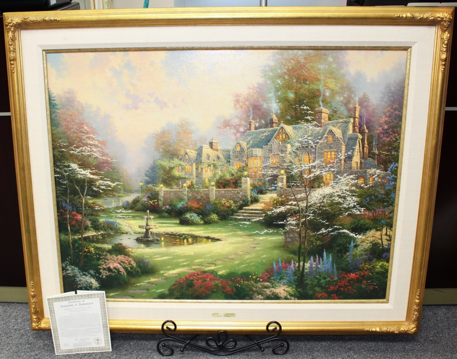 "Thomas Kinkade ""Gardens Beyond Spring Gate III"" 30"" x 40"" Lithograph on Canvas R/E 35/480"