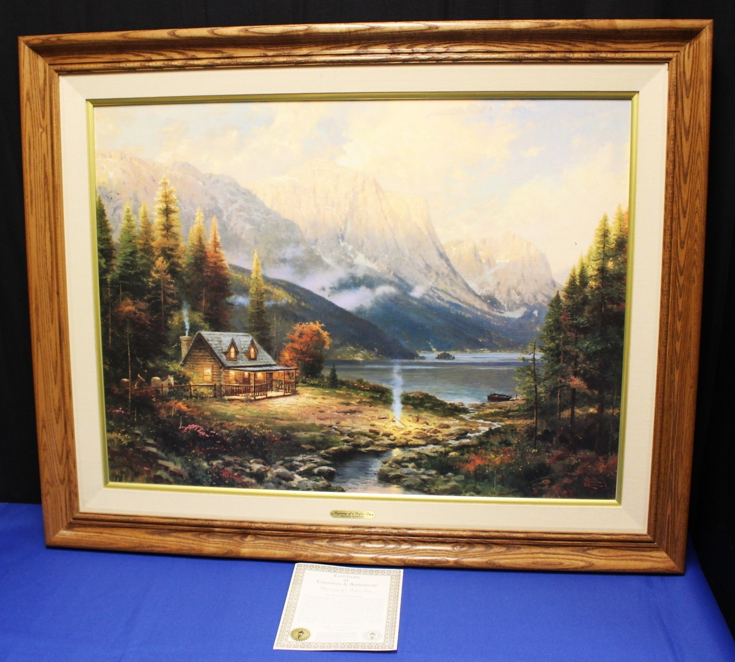 "Thomas Kinkade ""Beginning of a Perfect Day"" Lithograph on Canvas 574/2950, COA"
