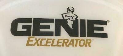 Genie Excelerator Black Gold Labeled Light Lens Cover