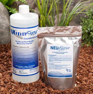 1 liter of MinnFinn® Max  Treats 8,000 Gallonsof Pond Water.