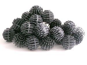 "Bio Balls 1 1/2"" Diameter, Black in color  1 Cubic Foot 12 lb."