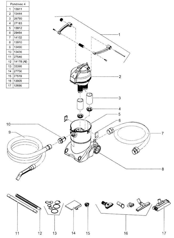 POND O VAC 4 Vacuum Seals Replacement Kit