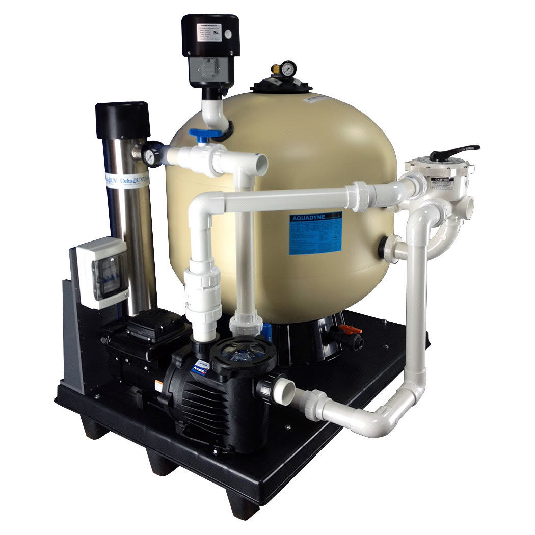Plug and Play System, AD 8000 Aquadyne Filter Ponds up to 8,000 Gallons