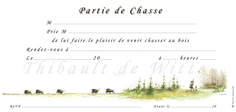 Invitations Chasse au Bois VII