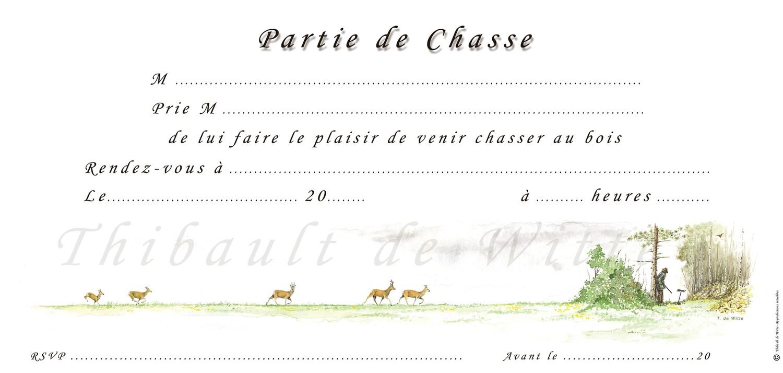 Invitations Chasse au Bois V