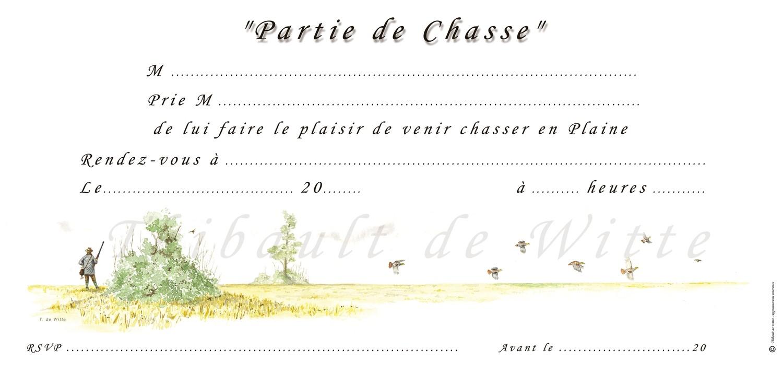 Invitations Chasse en Plaine