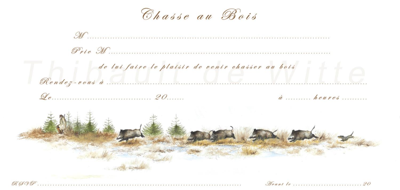Invitations Chasse au Bois III