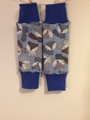 Light Blue Foxes Alpine Fleece Leg Warmers - alternative cuffs available