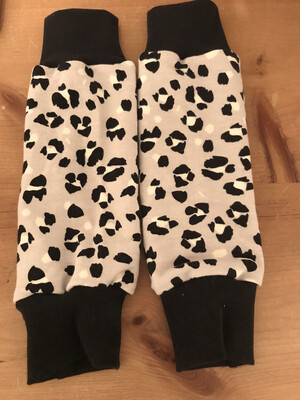 Grey Lynx Print Baby Leg Warmers - alternative cuffs available