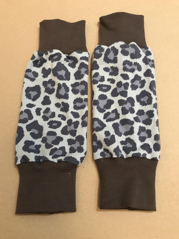 Blue Lynx Print Baby Leg Warmers - alternative cuffs available