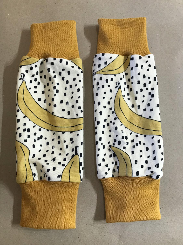 Yellow Banana Baby Leg Warmers - alternative cuffs available