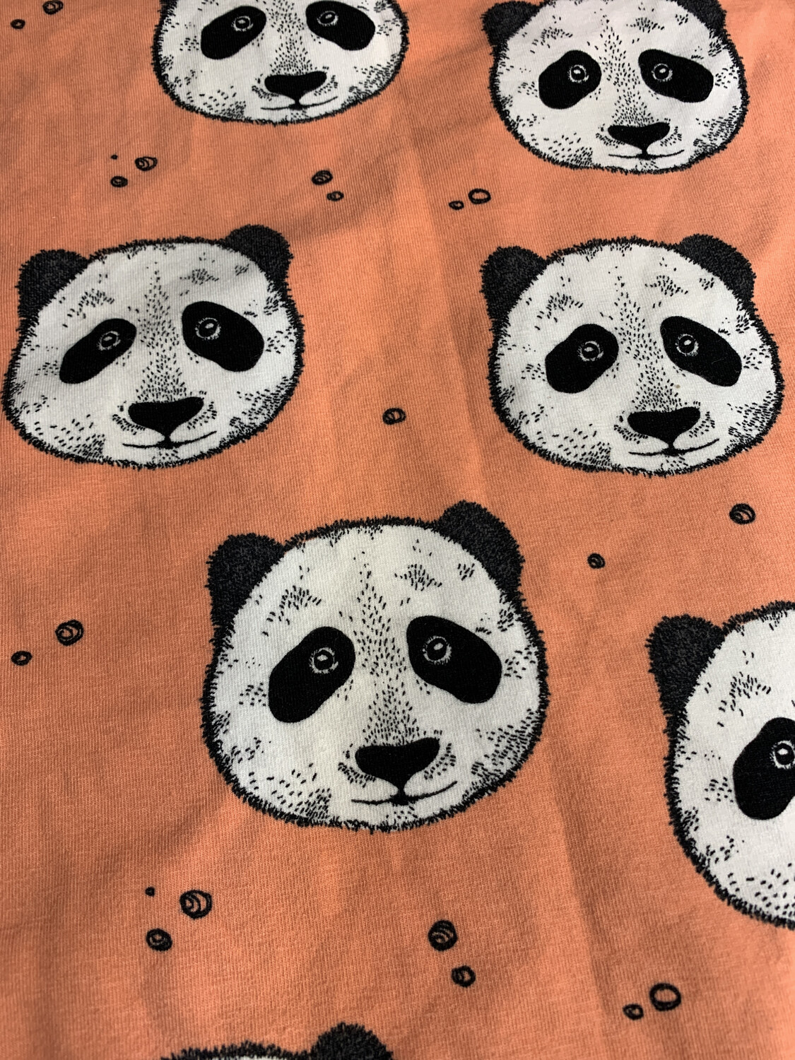 Coral Panda Baby Leg Warmers - alternative cuffs available