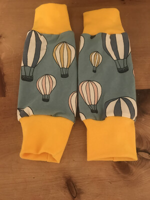 Blue hot air balloon Baby Leg Warmers - alternative cuffs available