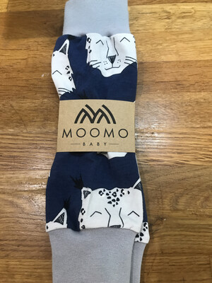 Navy Lynx Baby Leg Warmers - alternative cuffs available