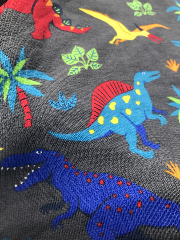Grey Dinosaur Baby Leg Warmers - alternative cuffs available
