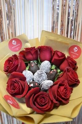 ვარდებიანი თაიგული | Roses & Strawberries