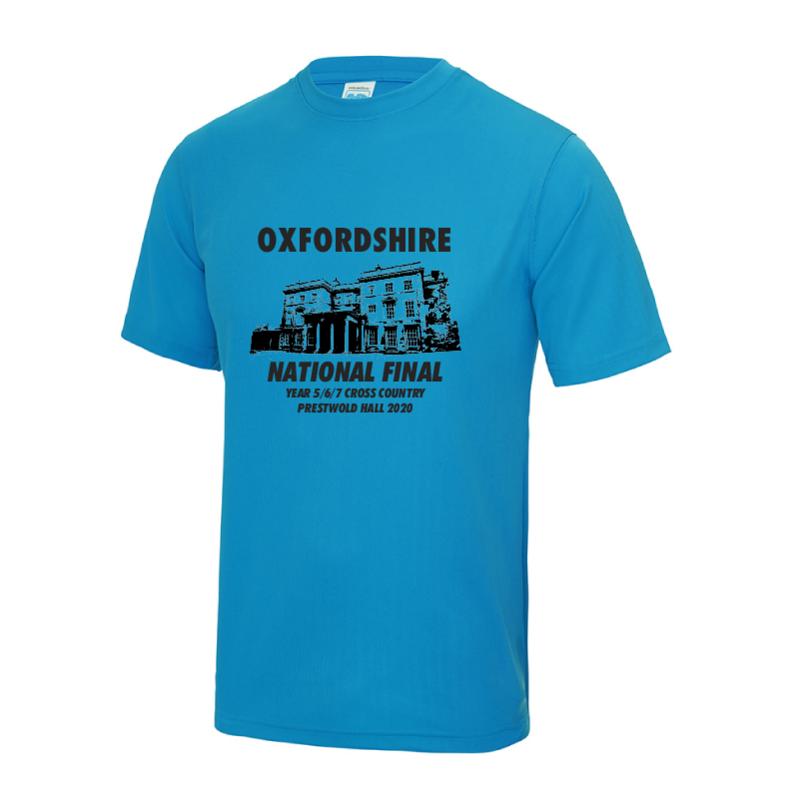 Oxfordshire Team National Schools XC Final T-Shirt