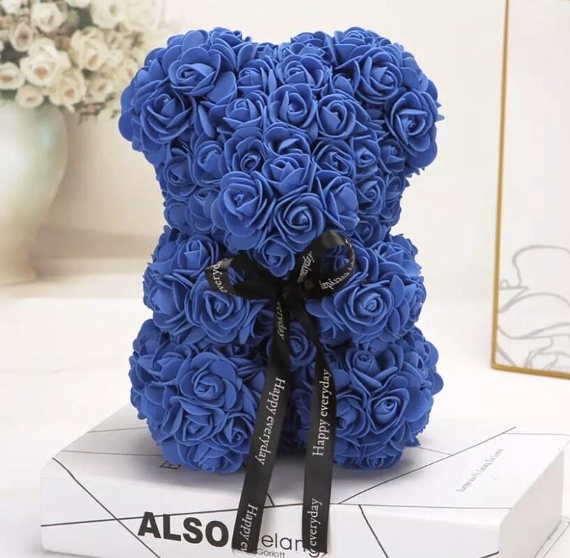 Rosette Bear Blue Color