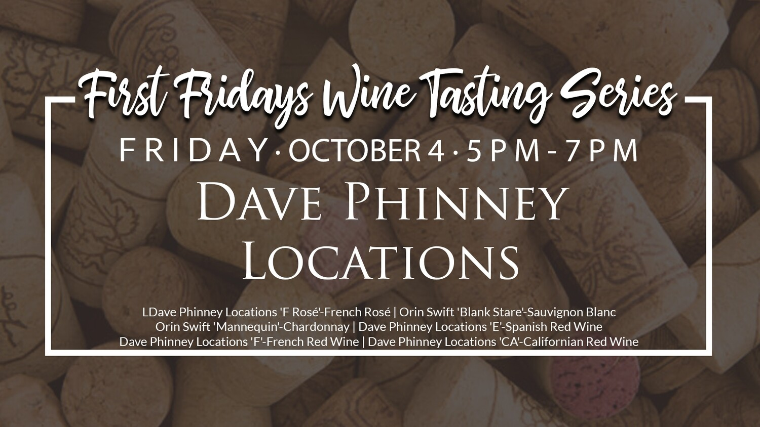 October Wine Tasting Ticket