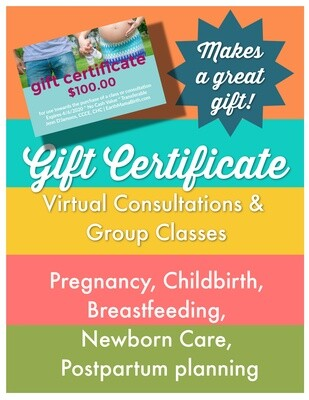 Earth Mama Birth Gift Certificate