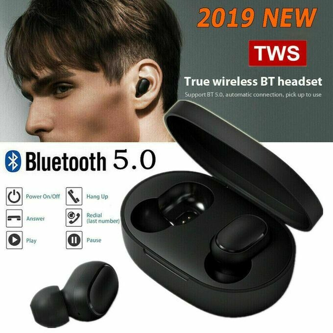 écouteurs A6S TWS Stereo Headphone Wireless Headset Bluetooth 5.0 Earphone Touch Control sans fil avec pour IOS Et Android