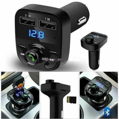 Bluetooth Voiture Transmetteur radio FM sans Fil avec charge rapide 2 USB chargue rapide , Chargeur Allume-Cigare ,إذا لم يكن لديك بلوتوث في السيارة