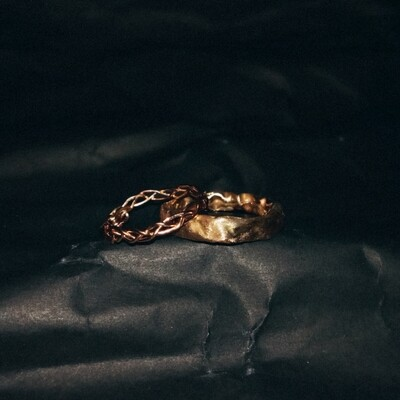 *SIZE 4.5–5 Chain and Misfit Ring Set