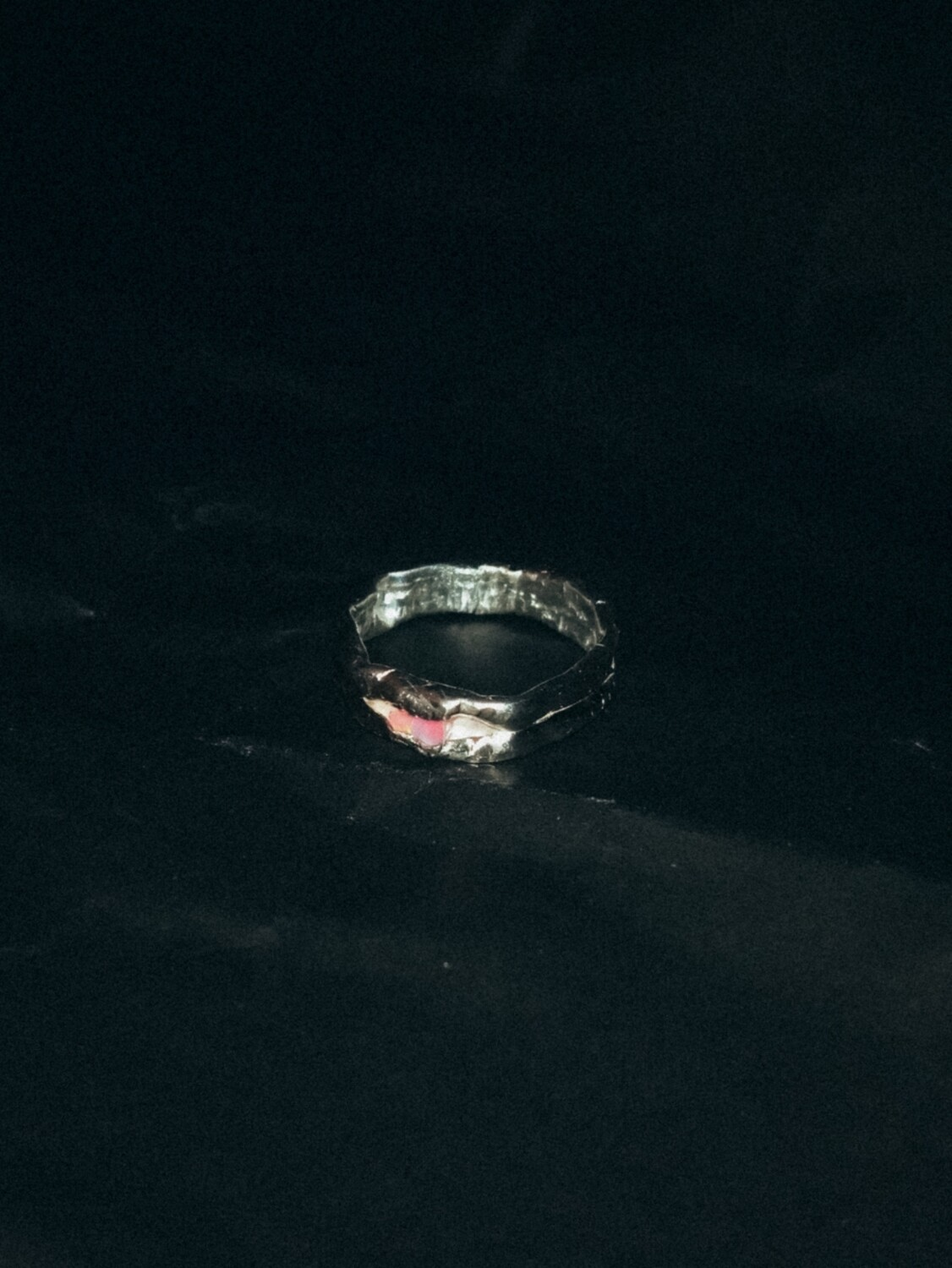 FRACTURED OPAL RING PINK