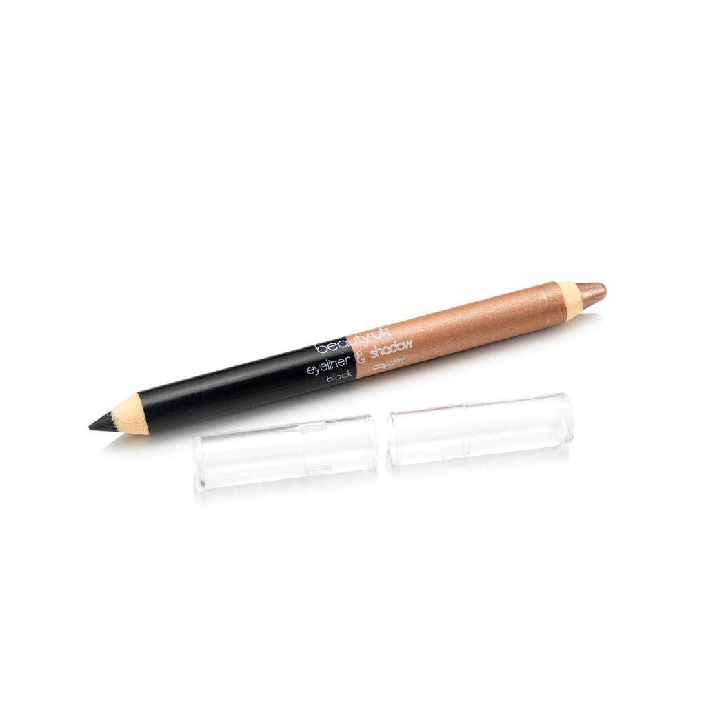 BE2137-4 Double ended jumbo pencil no.4 black and beige قلم كحل و ظلال