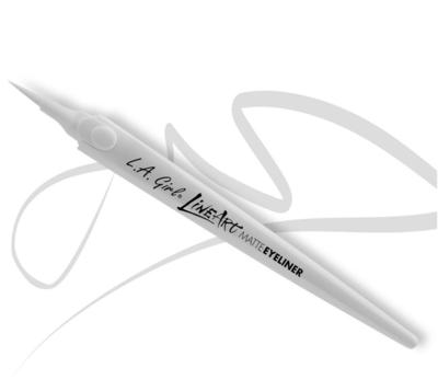 GLE715 ART MATTE EYELINER - PURE WHITE مات لاينر