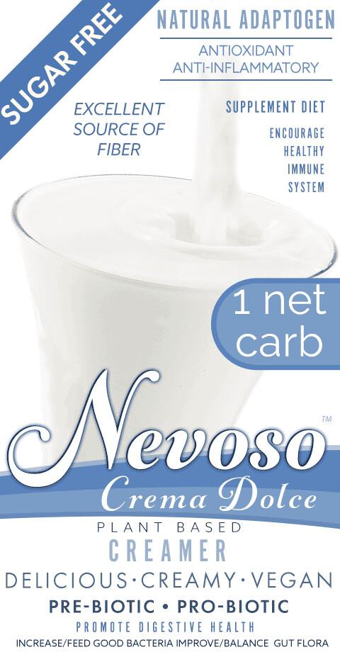 Crema Dolce (1pack)(4-6 cups milk) -NEVOSO- 1 Net Carb ANTI-Viral -BOOST IMMUNE SYSTEM-  Anti-inflammatory - Antioxidant - NON-Dairy Creamer - Sugar Free - DariFree -Smooth Creamy VEGAN KETO