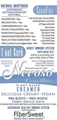(RCASE)DRSC (48packs) - Crema Dolce -1 Net Carb - ANTI-Viral -BOOST IMMUNE SYSTEM-  Anti-inflammatory - Antioxidant - NON-Dairy Creamer - Sugar-Free DariFree - Smooth and Creamy VEGAN KETO
