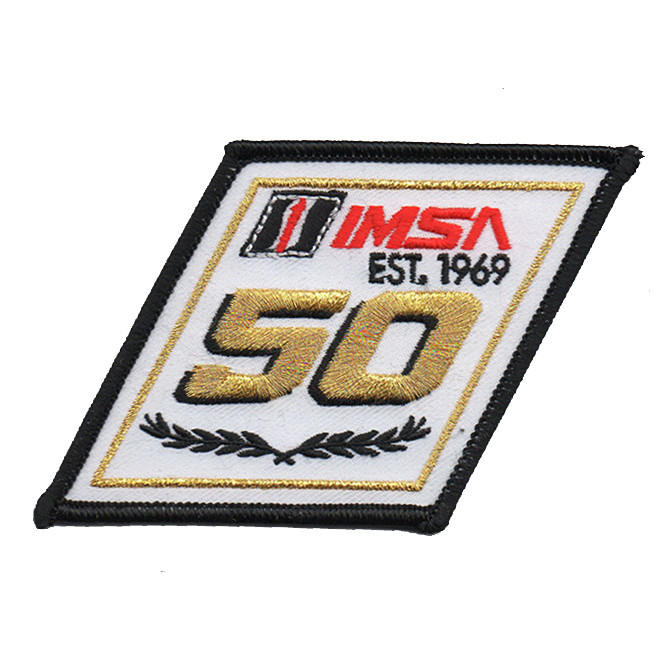 IMSA 50th Anniversary Logo Patch
