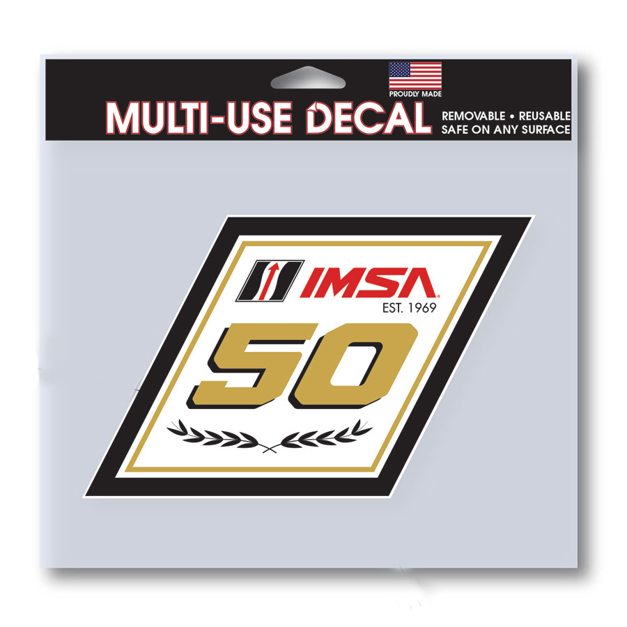 IMSA 50th Anniversary Logo Decal