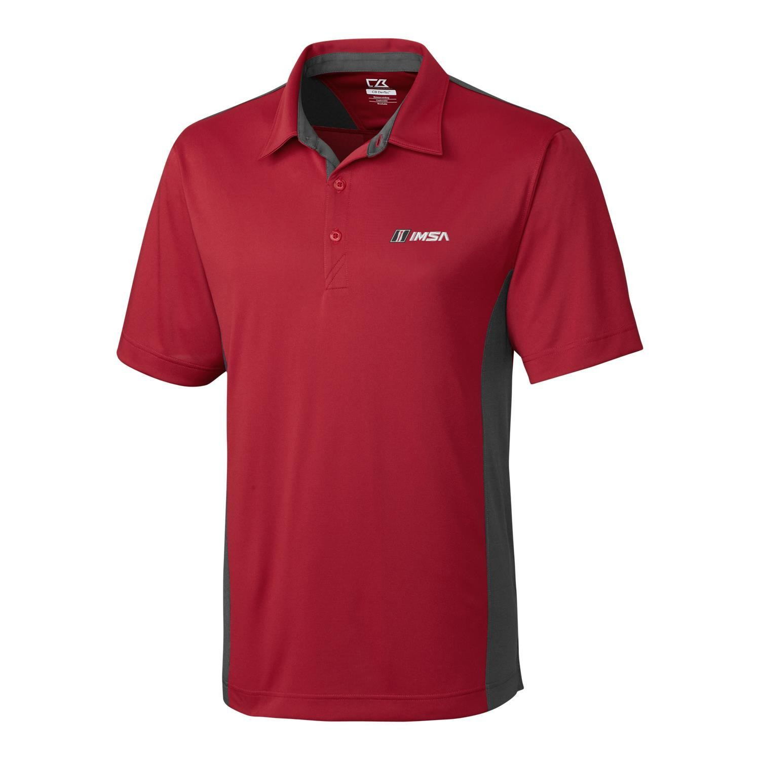 CB DryTec Willows Colorblock Polo Cardinal Red/Onyx