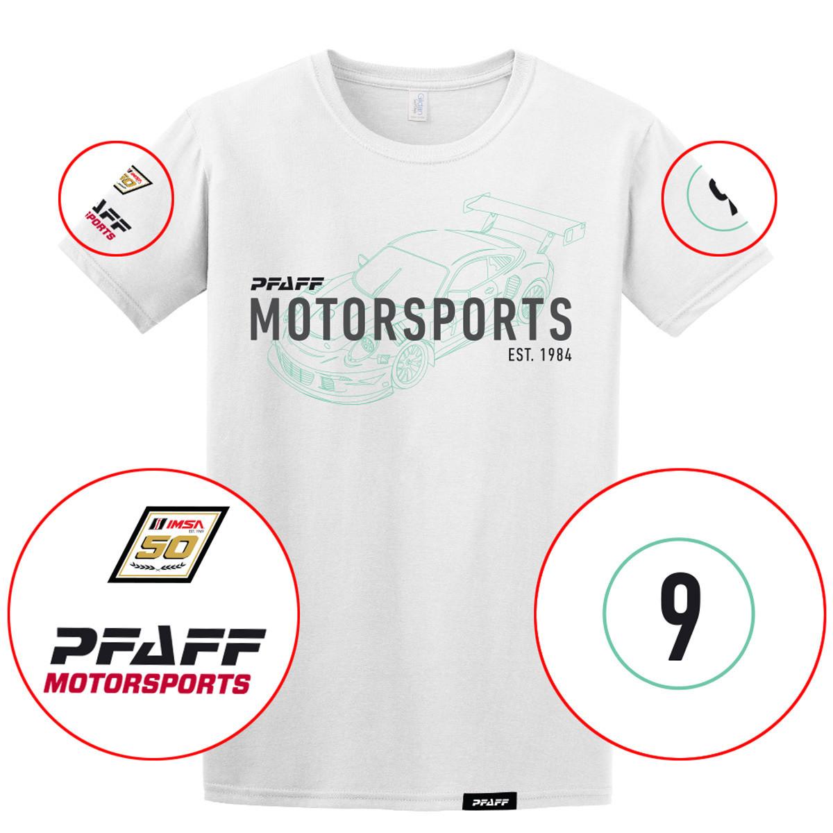 Pfaff 50th Racing Perf Tee White